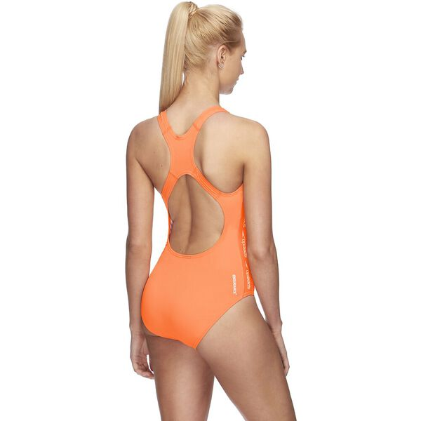 WOMENS SUPERIORITY MEDALIST ONE PIECE, FLARE/WHITE, hi-res