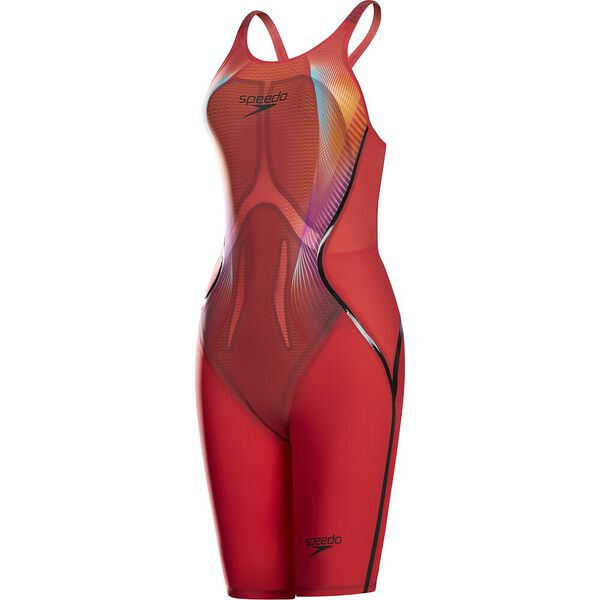 WOMENS LZRX OPENBACK KNEESKIN, LAVA RED/BLK/PINK, hi-res
