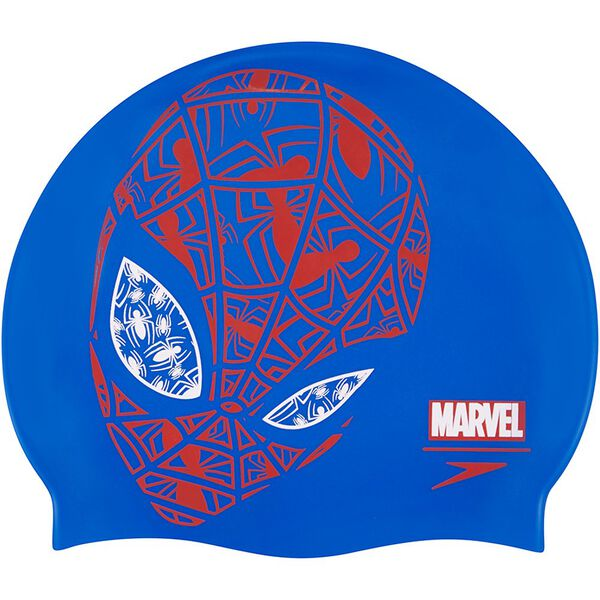 JUNIOR SLOGAN SPIDERMAN CAP, BLUE/LAVA, hi-res