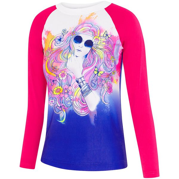 GIRLS LONG SLEEVE RASHIE, Hippie Girl, hi-res
