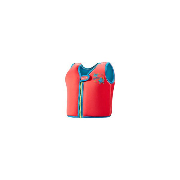 SEA SQUAD SWIM VEST, LAVA RED/NEON, hi-res