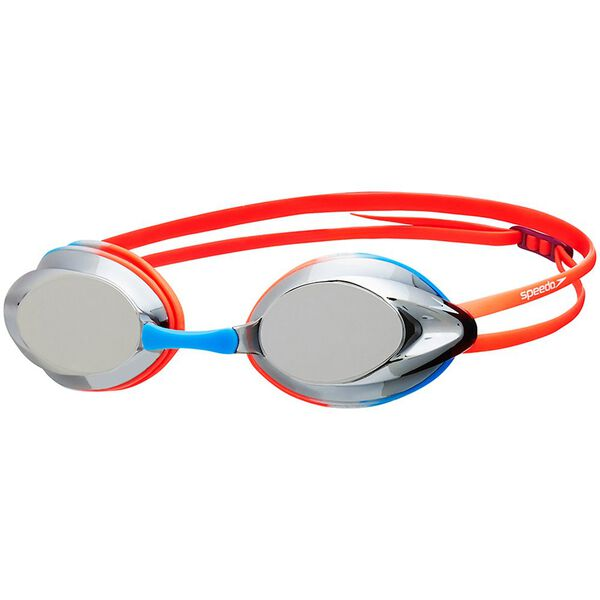 JUNIOR OPAL MIRROR GOGGLE, ORANGE/BLUE, hi-res