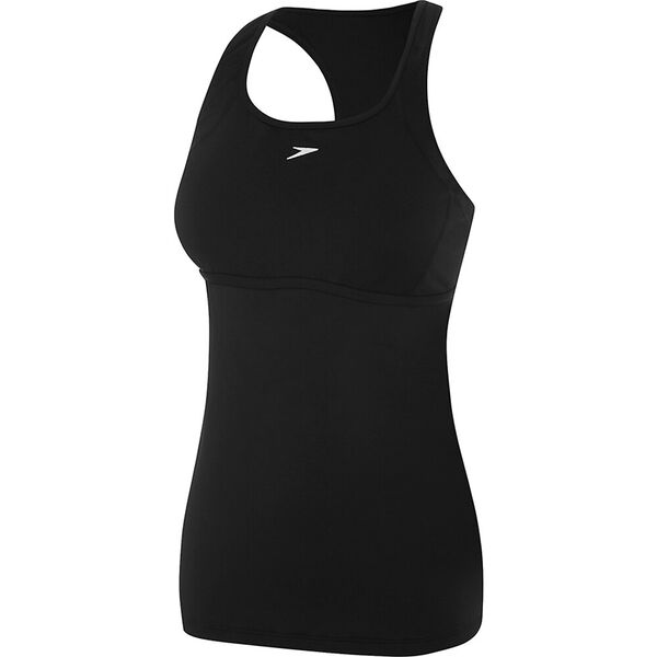 WOMENS CROSS TRAINER POWER TANK, BLACK, hi-res
