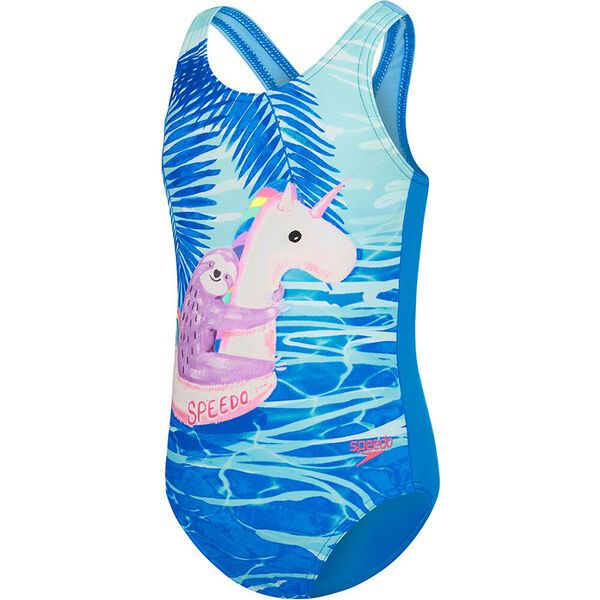 TODDLER GIRLS GALAXY CAT ONE PIECE, Float Sloth, hi-res