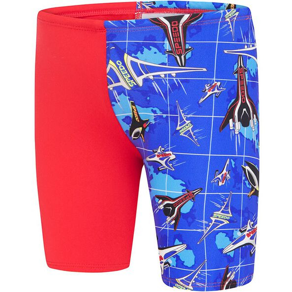 TODDLER BOYS ENDURANCE + LOGO JAMMER, USA Red/Speedo Jet, hi-res