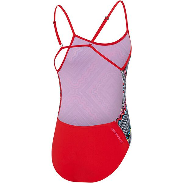 GIRLS GYPSY SQUARE TRICKBACK ONE PIECE, Gypsy Square/USA Red, hi-res
