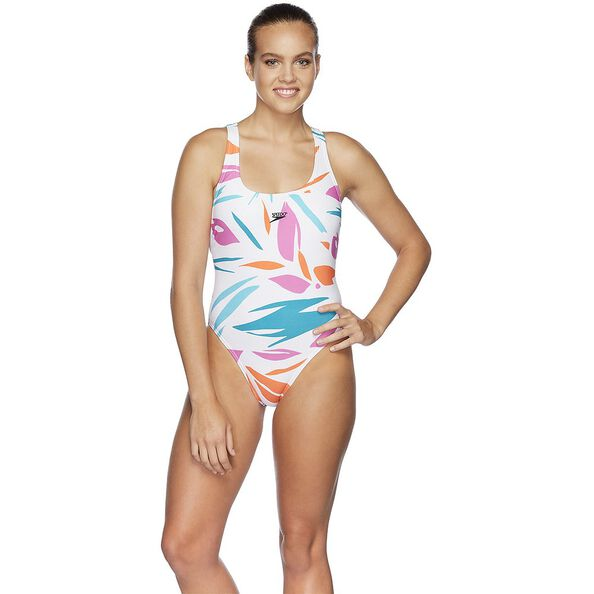 WOMENS 80S RACER ONE PIECE, JUNGLE LEAF, hi-res