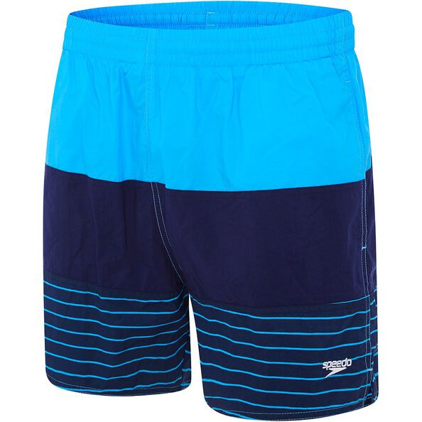 MENS PANEL SOLID LEISURE SHORT, Japan Blue/Speedo Navy/Limitless, hi-res