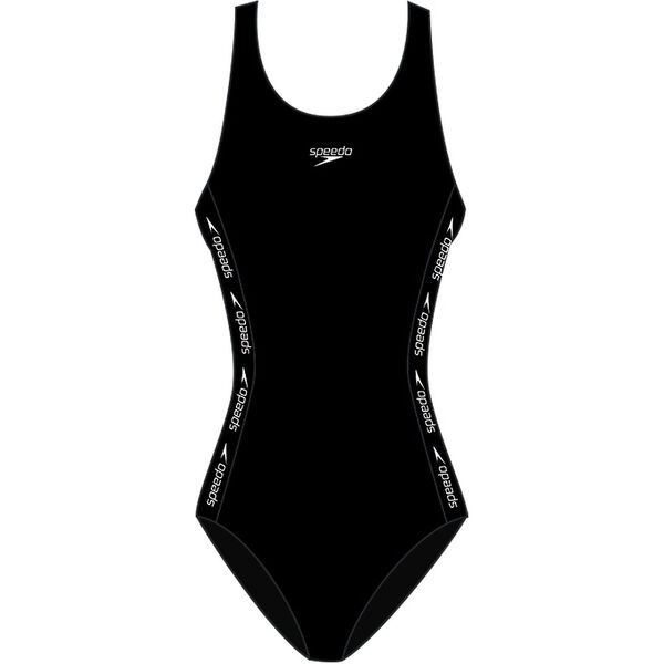 Womens Superiority Medalist One Piece, Black/White, hi-res
