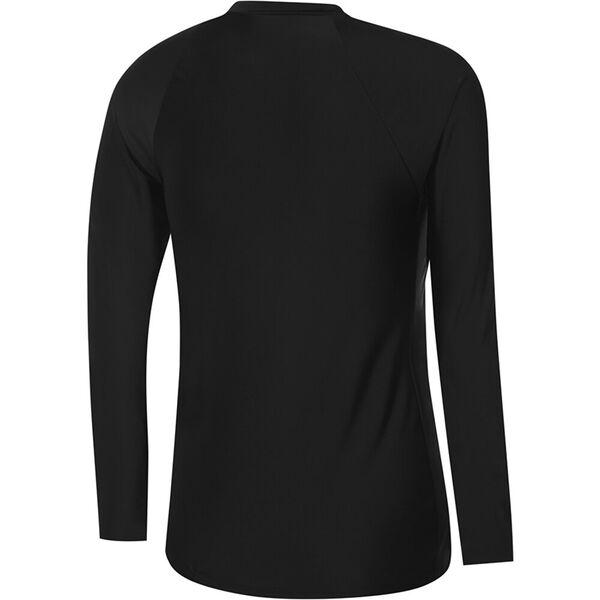 Womens End 10 Zip Up Long Sleeve Sun Top, Black, hi-res