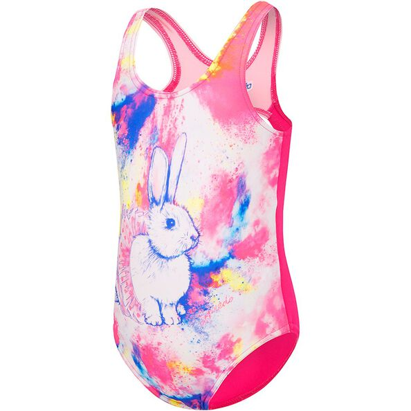 TODDLER GIRLS GALAXY CAT ONE PIECE, Ballerina Bunny/Electrick Pink, hi-res