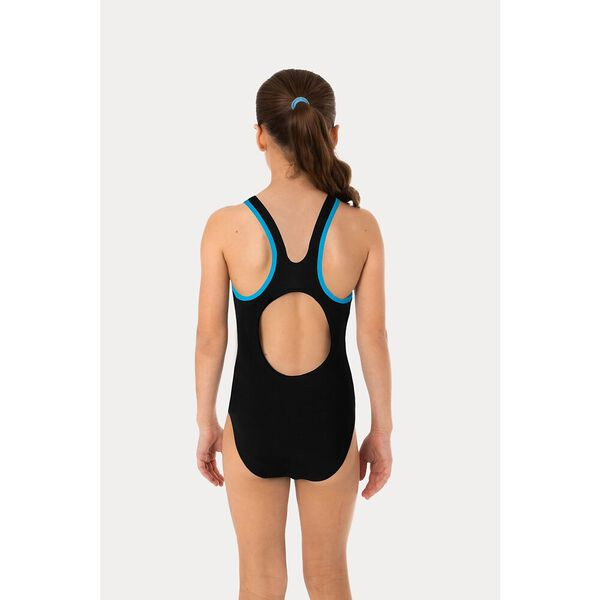 Girls Powerstrike Muscle Back One Piece, Palm Glow/ Curl Curl, hi-res