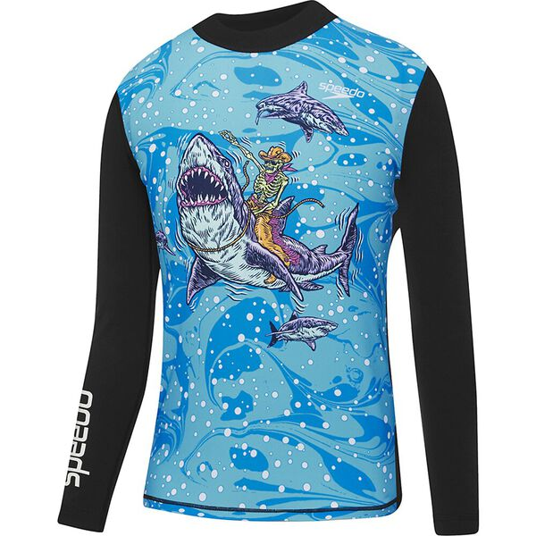 Boys Shark Rodeo Long Sleeve Rashie