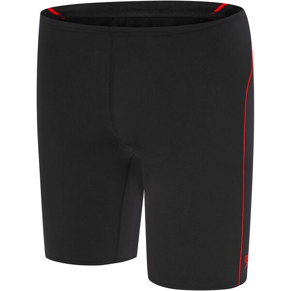 BOYS END+ LOGO JAMMER, Black/USA Red, hi-res