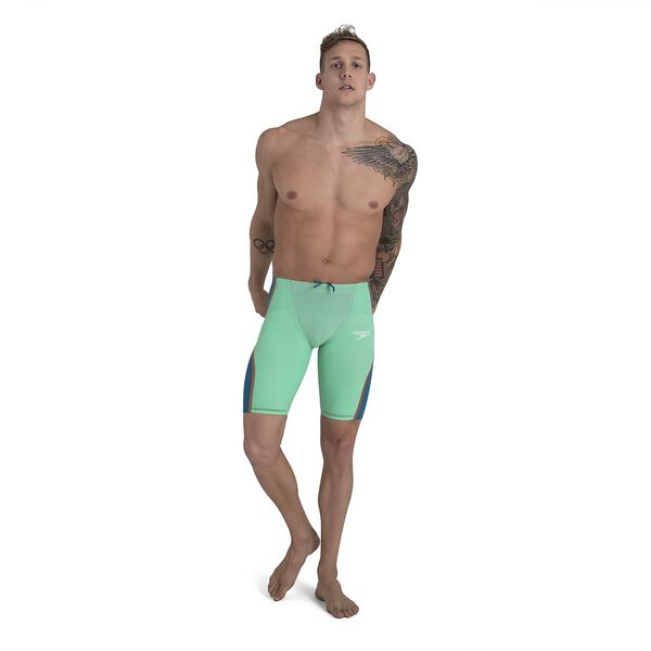 LZR INTENT HIGH WAISTED JAMMER, GREEN/BLUE, hi-res