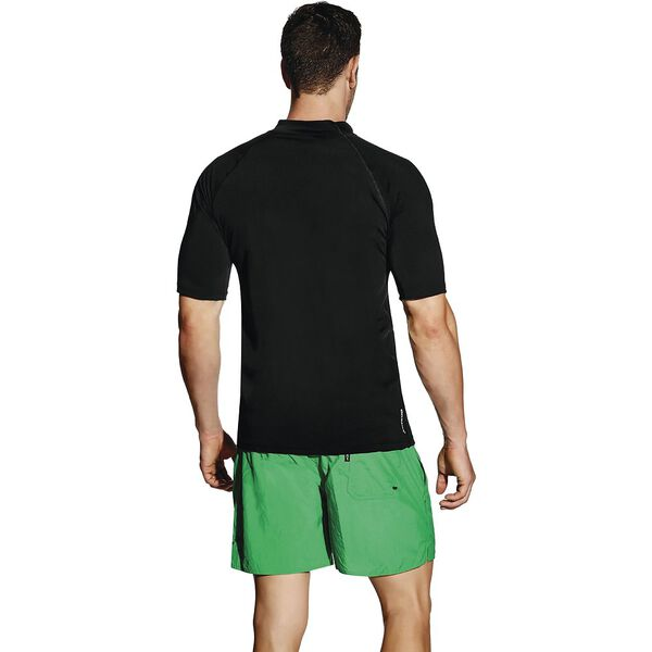 MENS RELAXED SHORT SLEEVE SUN TOP, Black, hi-res