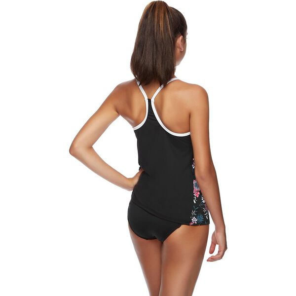 WOMENS SPEEDO ECO FABRIC TANK, BLACK/BLISS, hi-res