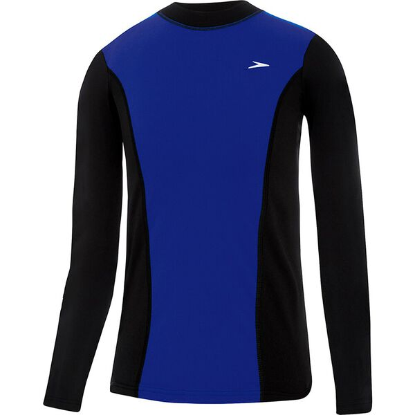 BOYS ACTIVE LONG SLEEVE RASHIE, Black/Speed, hi-res