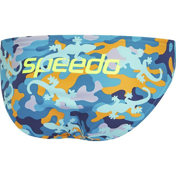 Mens Escape 5cm Brief, Gecko Run, hi-res