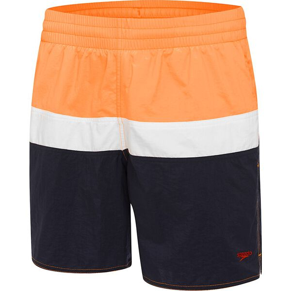 Mens Split Logo Watershort, Speedo Navy/Funray/White, hi-res