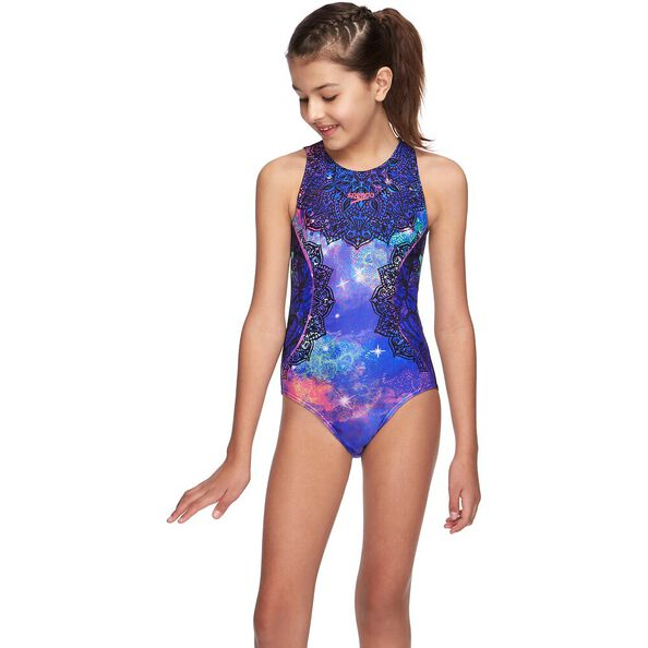 GIRLS MARBLE CRAZE TURBO SUIT ONE PIECE, Butterfly Kiss, hi-res