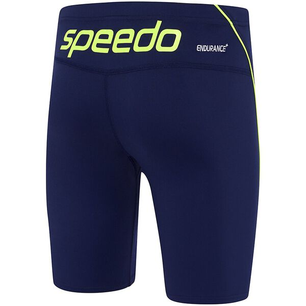 MENS ENDURANCE+ LOGO WATERBOY, Speedo Navy/Safety Yellow, hi-res