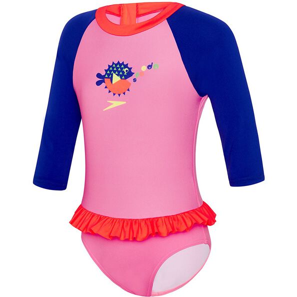 TODDLER GIRLS FLOUNCE SUN SUIT, Siren Red/Bambola/Ultramarine, hi-res