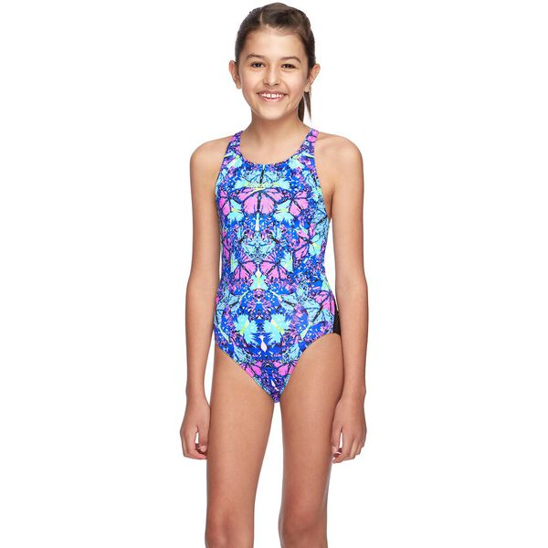 GIRLS STAR LIGHT ELEVATE ONE PIECE, Sparkle Butterfly, hi-res