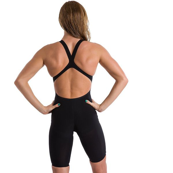 WOMENS LZR VALOR OPENBACK KNEESKIN, BLACK, hi-res