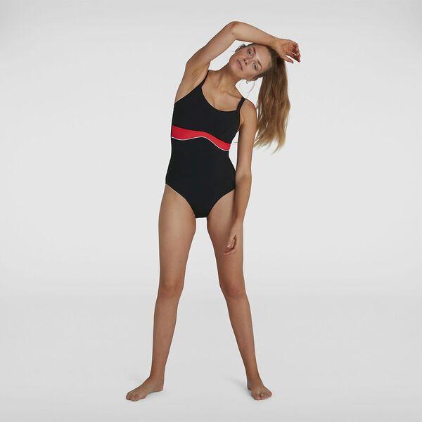 Womens Salacia Clipback Shaping 1Pc, Black/Lava Red/White, hi-res