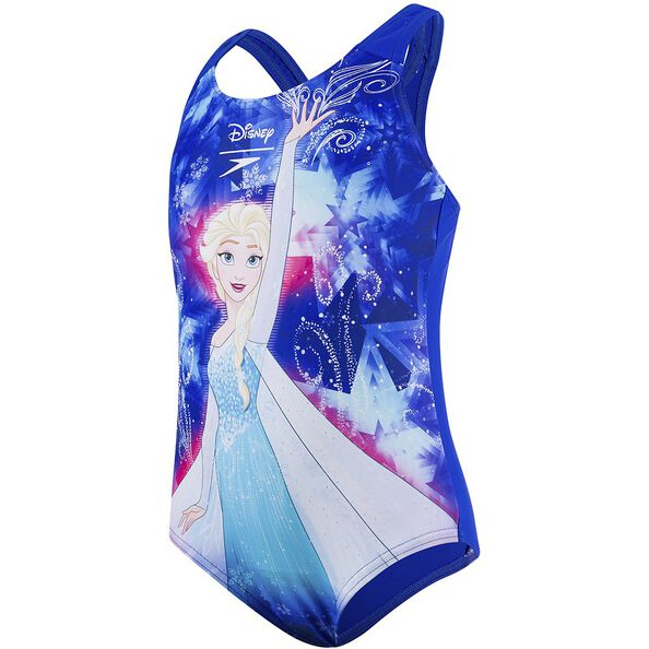TODDLER GIRLS DISNEY FROZEN ONE PIECE, BEAUTIFUL BLUE/TURQUOISE/PNKSP, hi-res