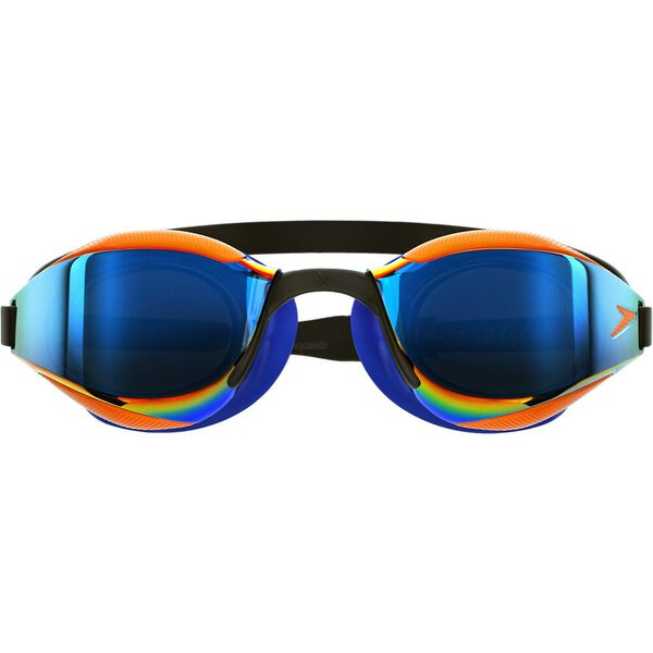Fastskin Hyper Elite Mirror Junior, Black/Blue/Dragon Fire/Ocean Chrome, hi-res
