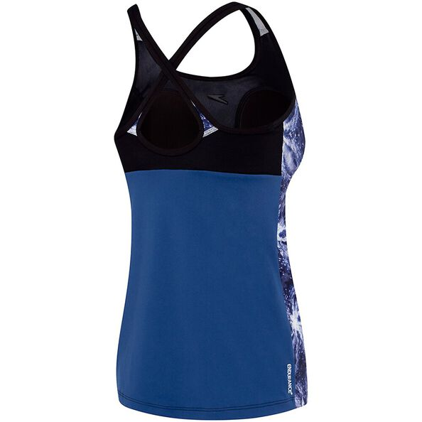 WOMENS CROSS TRAINER FIT TANK, MIRROR LIGHT/BLACK, hi-res
