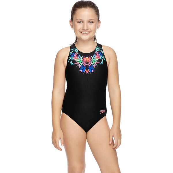 GIRLS MARBLE CRAZE TURBO SUIT ONE PIECE, Jungle Necklace, hi-res