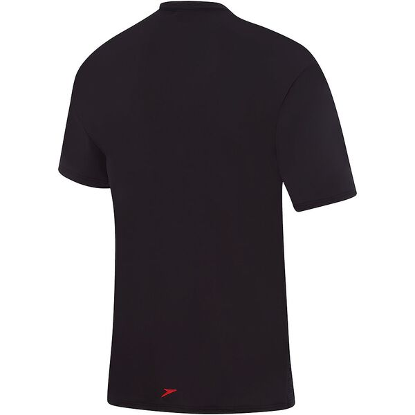 MENS SALTY TEE SHORT SLEEVE RASHIE, Carbon Marle/Black, hi-res