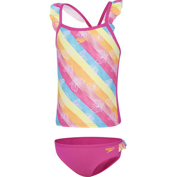 Toddler Girls Frill Crossback Tankini Set, Summer Bliss, hi-res
