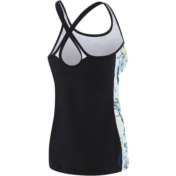 WOMENS CROSS TRAINER FIT TANK, MARBLED/BLK/WHITE, hi-res