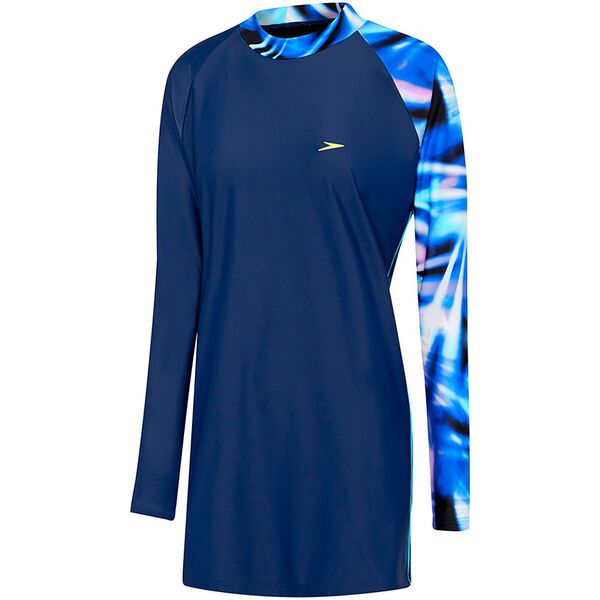WOMENS SWIM TUNIC, MARINER/RAYS, hi-res