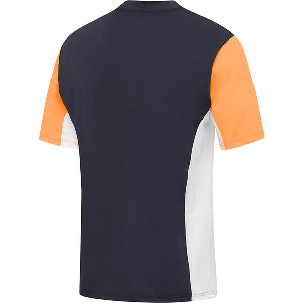 Mens Motion Relaxed Short Sleeve Rashie, Speedo Navy/Funray/White, hi-res
