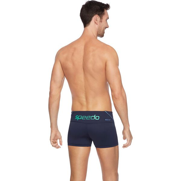 MENS ENDURANCE+ LOGO AQUASHORT, Speedo Navy/Amazon/ Bluebell, hi-res