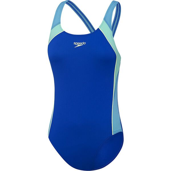 Girls Sport Image One Piece, Speed/Laguna/Fresh Mint, hi-res
