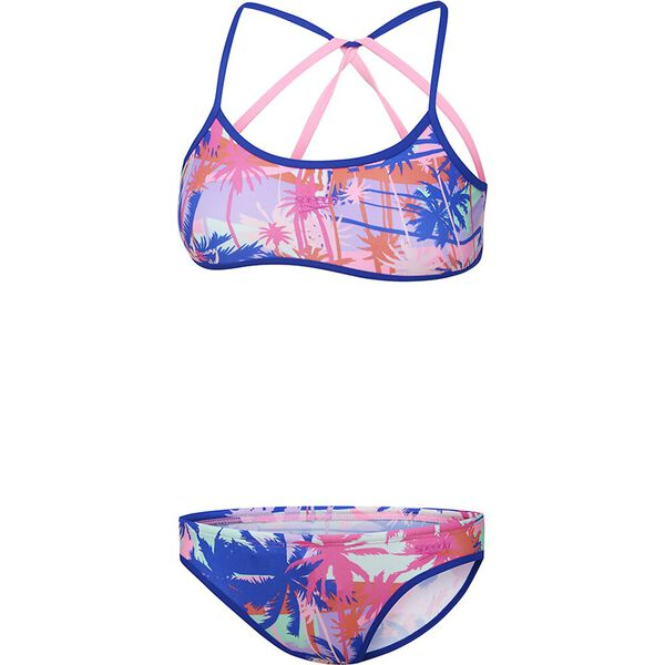Girls Strap Back Two Piece, Tropic Optic, hi-res