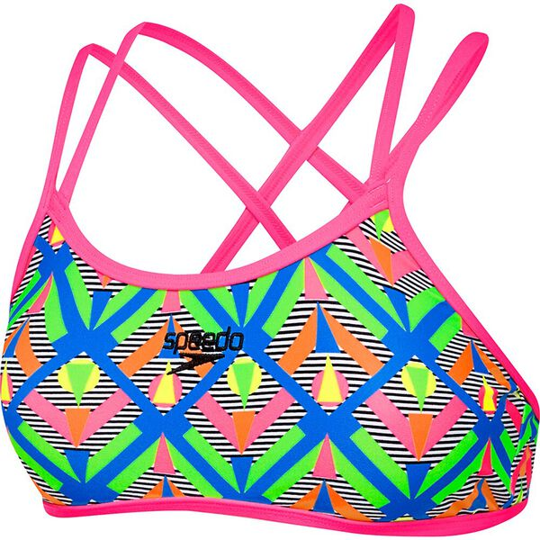 WOMENS DOUBLE CROSSBACK CROP TOP