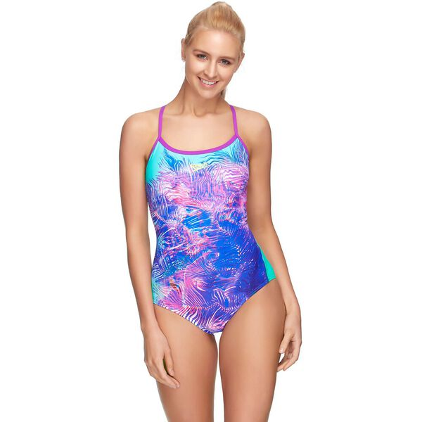 WOMENS OPEN X BACK ONE PIECE, SURFACE/INCA/MUSIC, hi-res
