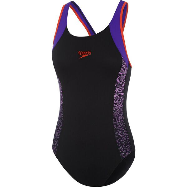 GIRLS BOOM MUSCLEBACK ONE PIECE, Boom/Black/Orchid, hi-res