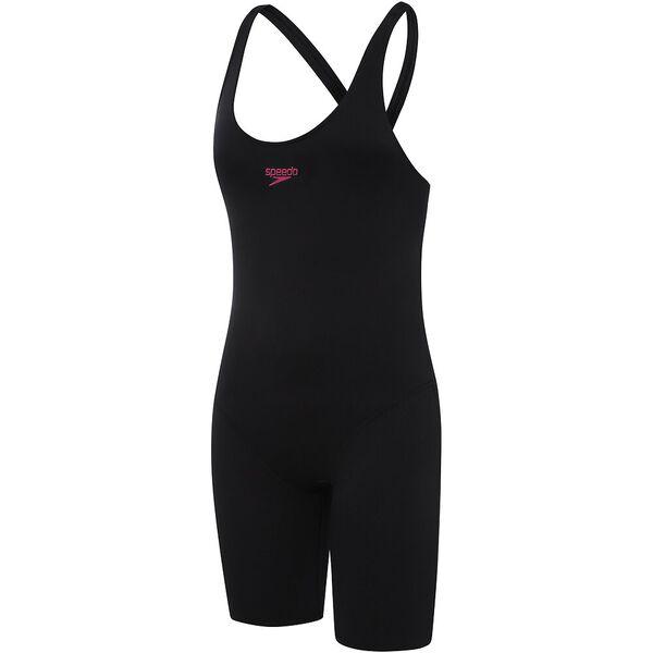 GIRLS END+ LEADERBACK LEGSUIT, Black/Marl Stripe, hi-res