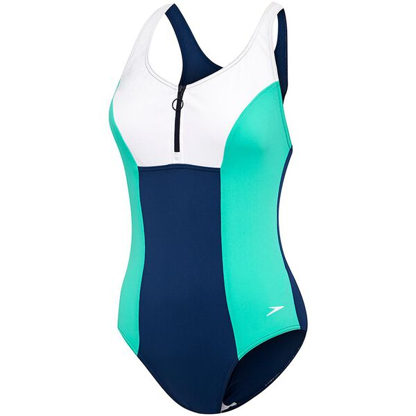 WOMENS SHAPE ONE PIECE, MARINER/INCA/WHITE, hi-res