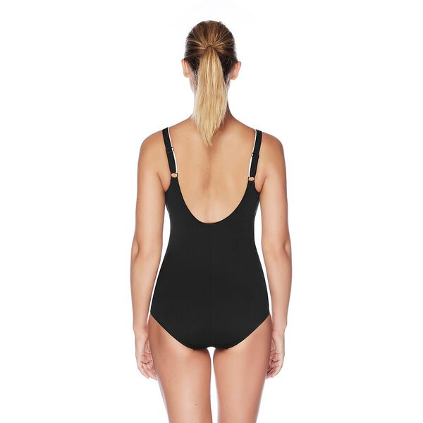 WOMENS CONCEALED D CUP TANK ONE PIECE, BLACK/WHITE, hi-res