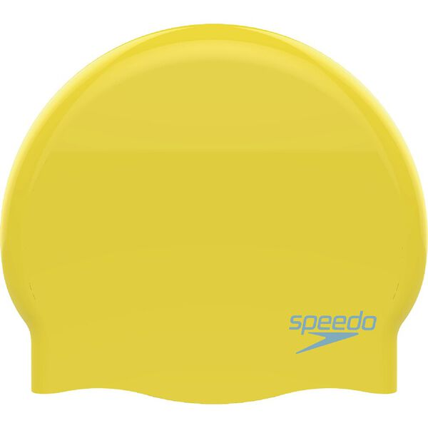 PLAIN MOULDED SILICONE JNR, YELLOW/BLUE, hi-res