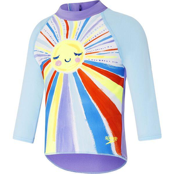 Toddler Girls Long Sleeve Suntop, Sunshine on my Mind, hi-res